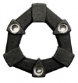 3 Bolt Rubber Coupling w/ Stepped Holes